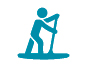 Stand up and paddle icon